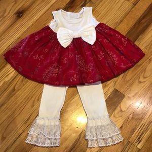 Persnickety Babydoll Dress/Top and Lace Leggings